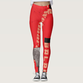 RED GRAPHIC WEIM LEGGINGS