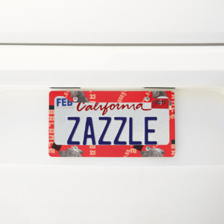 RED GRAPHIC WEIM LICENCE PLATE FRAME BY BLU WEIM