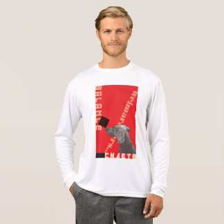 RED GRAPHIC WEIM MEN'S LONG SLEEVE WHITE T-SHIRT