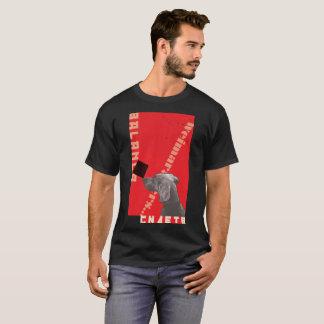 RED GRAPHIC WEIM MENS T-SHIRT BLACK