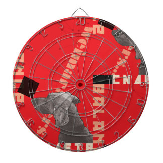 RED GRAPHIC WEIM METAL CAGE DARTBOARD BY BLU WEIM