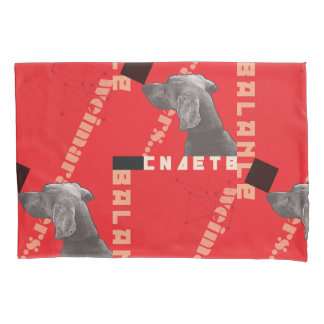 RED GRAPHIC WEIM PILLOWCASE