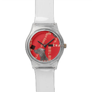RED GRAPHIC WEIM WATCH CLEAR BY BLU WEIM