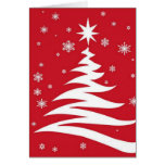 Red graphics for Christmas - Greeting Card