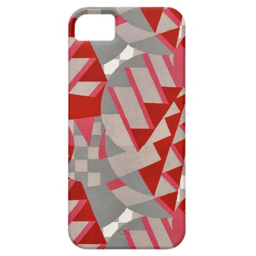 Red / gray 1920s Deco design Case For iPhone 5/5S