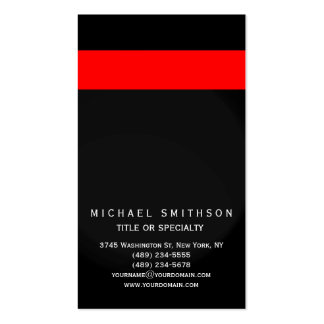 Red Gray Black Simple Consultant Business Card