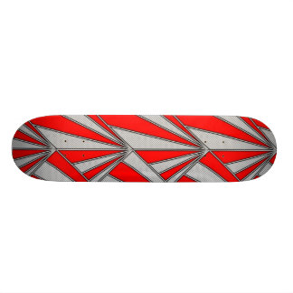 red gray graphic pattern skate decks
