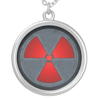 Red & Gray Radiation Symbol Necklace