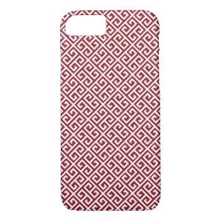 Red Greek Key Pattern iPhone 7 Case