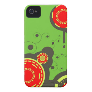 Red & Green Abstract iPhone case