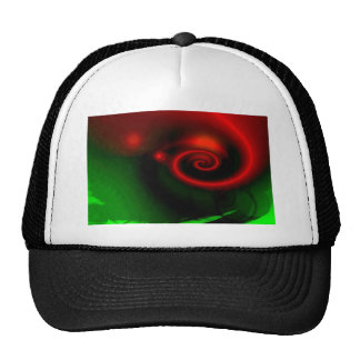 Red Green Abstract Painting Cap