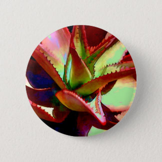 Red & Green Agave 6 Cm Round Badge
