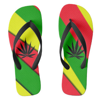 Red, Green and Gold Flip Flops