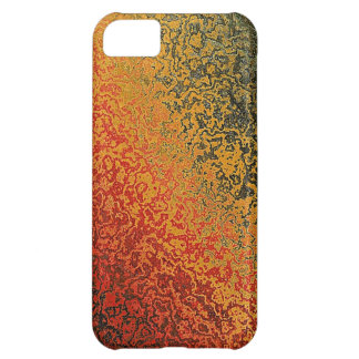 Red Green And Gold Pattern iPhone 5C Case