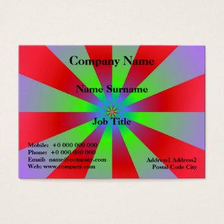 Red Green and Lilac Sunbeams Business Card