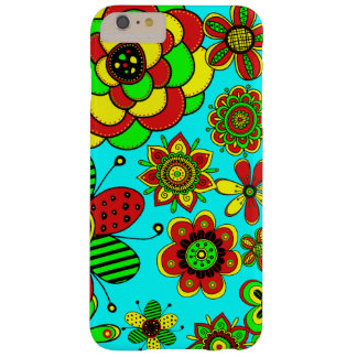 Red, green and yellow flowers barely there iPhone 6 plus case