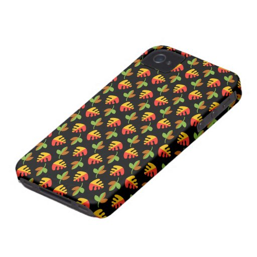 Red Green and Yellow Leaves Pattern Blackberry Bold Cases