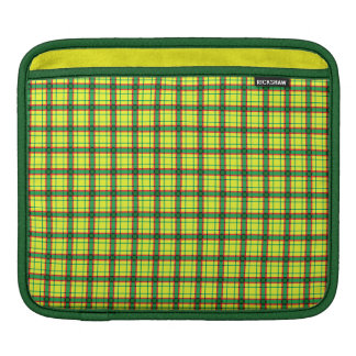 Red Green and Yellow Plaid iPad Sleeve