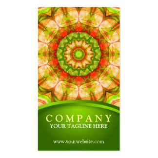 Red Green Apples (120) Mandala Pack Of Standard Business Cards