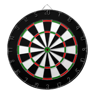 Red Green Black Dartboard