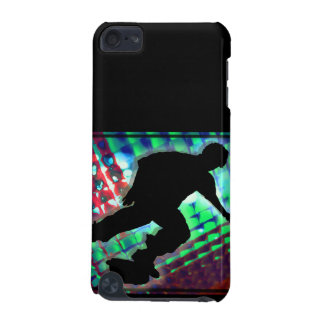 Red Green & Blue Abstract Boxes Skateboard iPod Touch 5G Cases