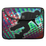 Red Green & Blue Abstract Boxes Skateboarder Sleeve For MacBook Pro