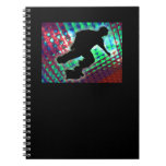 Red Green & Blue Abstract Boxes Skateboarder Notebooks