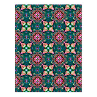 Red Green Blue Abstract Postcard