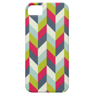 Red Green Blue Gray Herringbone Chevron Pattern Case For The iPhone 5