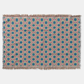 Red, Green, & Blue Honeycomb - Throw Blanket