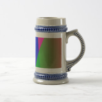 Red Green Blue Vivid Abstract Art Beer Steins
