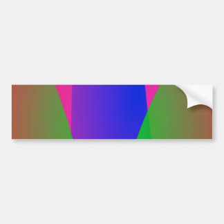 Red Green Blue Vivid Abstract Art Bumper Stickers
