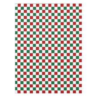 Red Green Checks Tablecloth