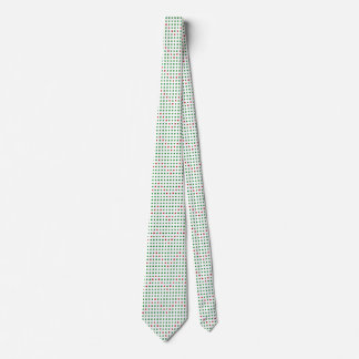 Red Green Chevron Dots on White Christmas Ties