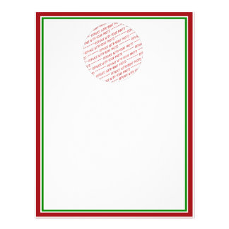 Red Green Christmas Colors Trimmed Template Flyers