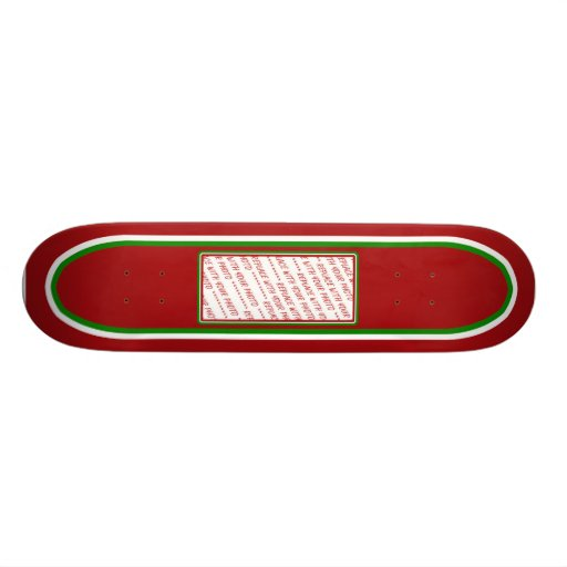 Red & Green (Christmas Colors) Trimmed Template Skate Board