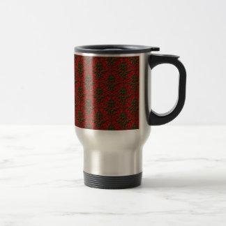 Red Green Christmas Damask Coffee Mug