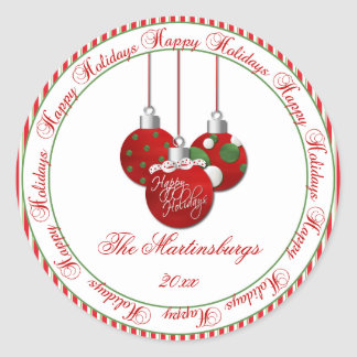 Red Green Christmas Happy Holidays Sticker