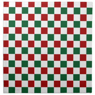Red Green Christmas Napkin