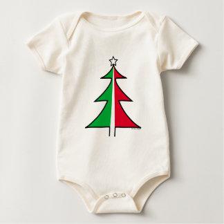 Red Green Christmas Tree Baby Bodysuit