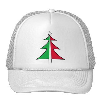 Red Green Christmas Tree Hat