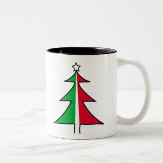 Red Green Christmas Tree Mug