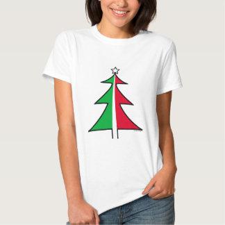 Red Green Christmas Tree Tee shirt