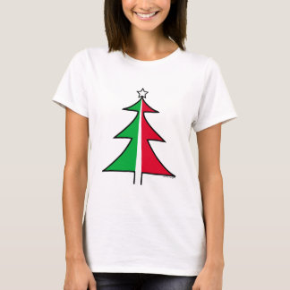 Red Green Christmas Tree Tee shirt