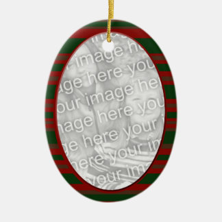 red green Chrstimas photoframe Christmas Ornament