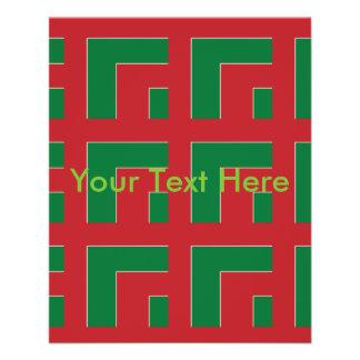 Red/Green Color Corner (MG) 11.5 Cm X 14 Cm Flyer