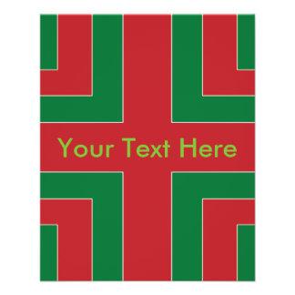 Red/Green Color Corner (MT) 11.5 Cm X 14 Cm Flyer