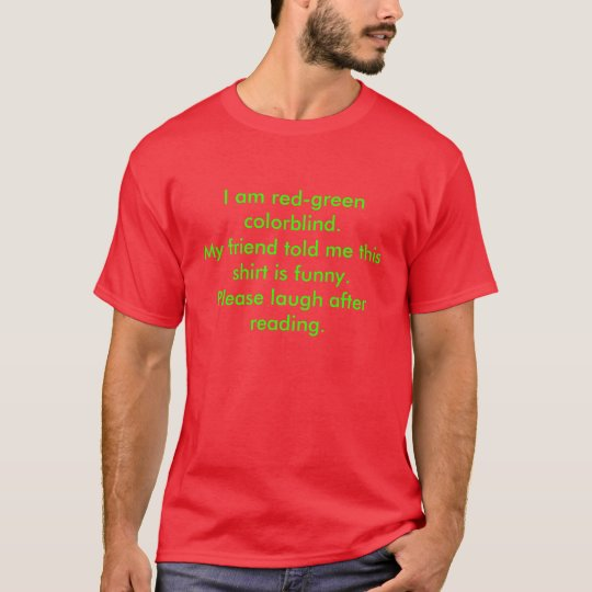 Red Green colorblind shirt