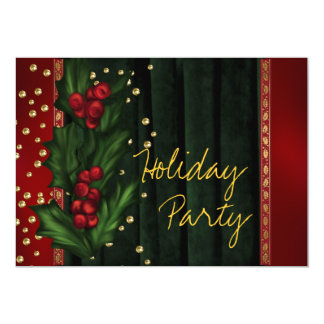 Red Green Corporate Holiday Party Card