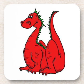Red Green Dragon png Coaster